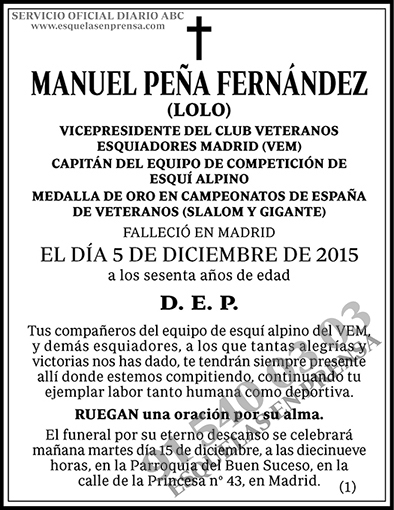 Manuel Peña Fernández